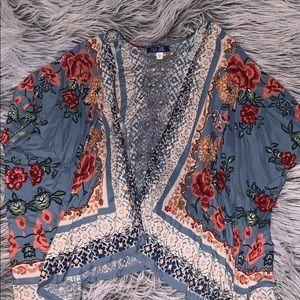 Paisley Floral Print Kimono